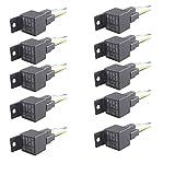 E Support Car Relay 12v 40a Spst 4pin Socket Pack