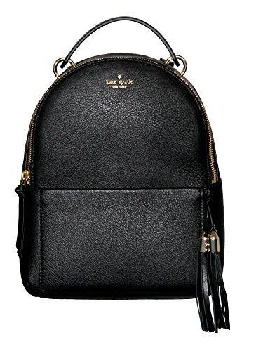 Kate Spade Women's Atwood Place SMALL MINI Bradley Black Leather Backpack [並行輸入品]   B07H3KMY2V