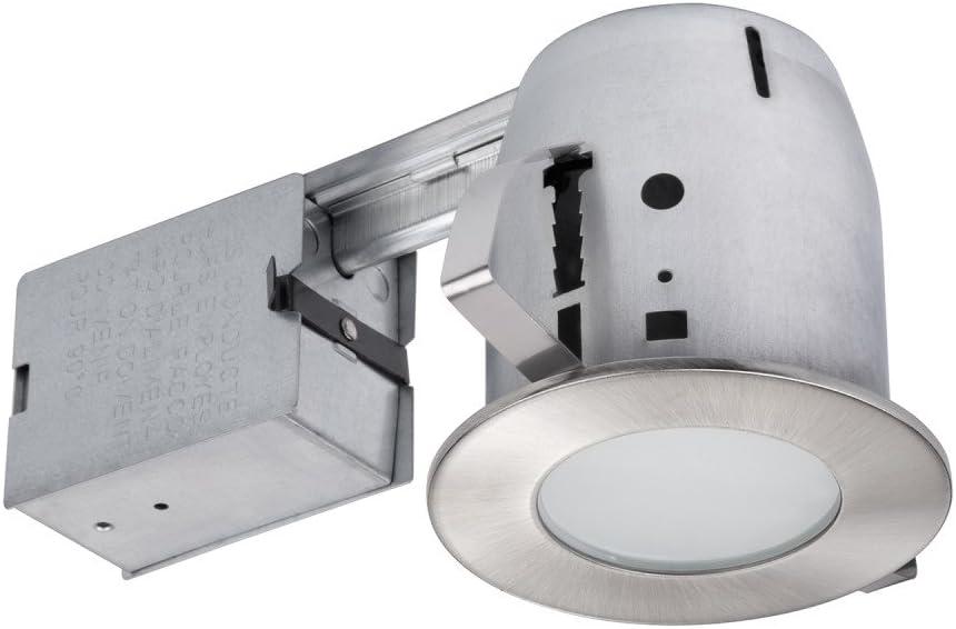 10-Pack Brushed Nickel Recessed Lighting Kit Globe Electric 4 in