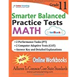 SBAC Test Prep: 11th Grade Math Practice tests and Online Workbooks: Smarter Balanced Study Guide With Performance Task (PT) and Computer Adaptive Test (CAT)