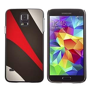Be-Star Único Patrón Plástico Duro Fundas Cover Cubre Hard Case Cover Para SAMSUNG Galaxy S5 V / i9600 / SM-G900F / SM-G900M / SM-G900A / SM-G900T / SM-G900W8 ( Khaki Beige Red )