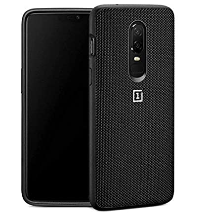 new style 6a39e 44a63 Nik case for OnePlus 6 case, oneplus 6 Cover Nylon Material, TPU Soft Edge,  PC Hard Case Bottom, Washable, Full Body Heavy Duty Protection (Dot Black)