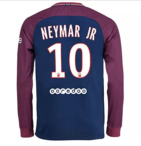 buy popular 8737b 08cfc Fan Kitbag Neymar Jr #10 PSG Home Long Sleeve Soccer Jersey & Shorts Paris  Saint Germain Youth Kids Home ✓ Premium Gift Picture Backpack