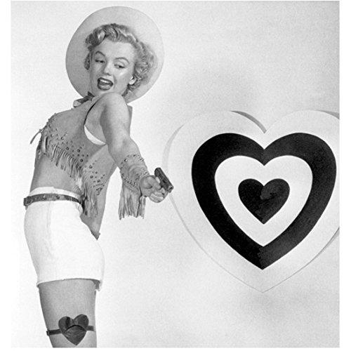 Marilyn Monroe Ready to Shoot Love Through the Heart Bullseye 8 x 10 Inch Photo
