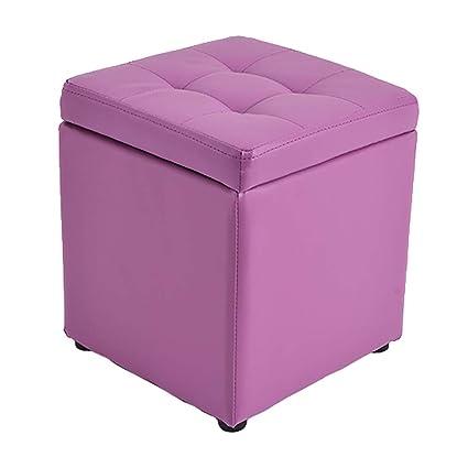 Amazon.com: Storage Stool LXF Ottomans Leather Ottoman Sofa ...