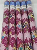 Gift Wrap - Disney Princess Jasmine Tiana Snow White Belle - Pink Themed Wrapping Paper - 1 Roll - 20 sq feet