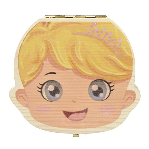 Eteng Baby Teeth Album Tooth Fairy Box Wooden Holder Keepsak