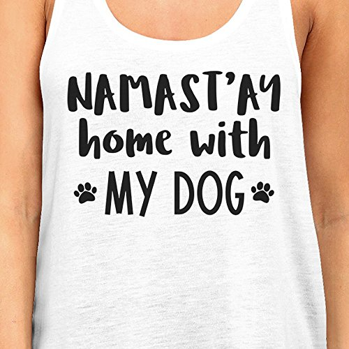 Femme Sans Printing Dog 365 Pull With Taille Unique Namastay Home My White Manche BwIRpq