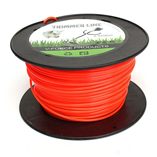 Wchaoen 3mm x 90m Flexible Nylon Trimmer Line Rope For Most Petrol Strimmers Machine Tools and accessories