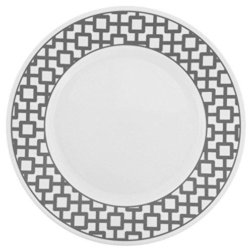 Corelle Impressions Urban Grid 10.75u2033 Dinner Plate (Set of 12)  sc 1 st  Kitchen Products & Corelle Impressions Urban Grid 10.75