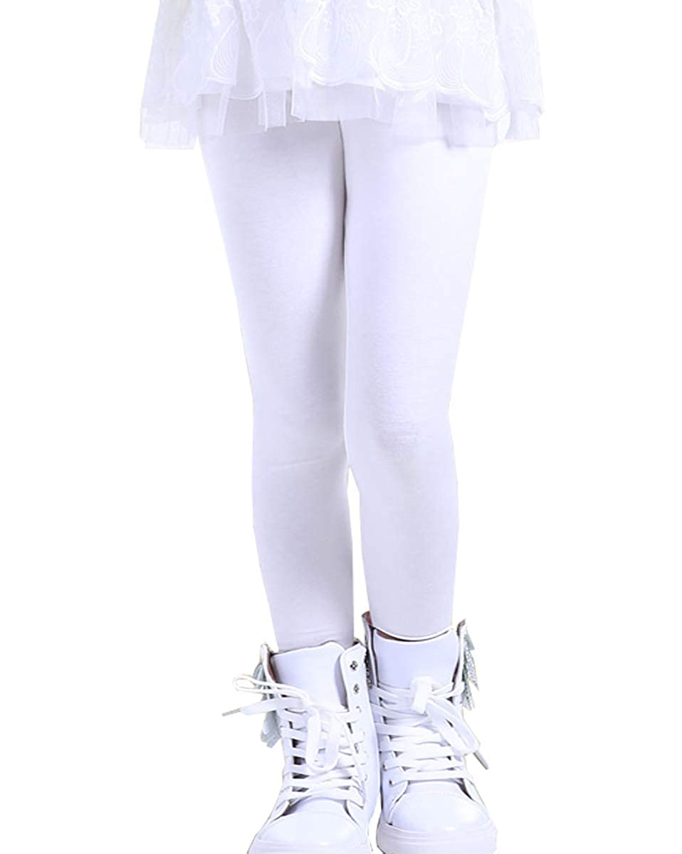 3e959aa8dd Amazon.com: NABER Kids Girls' Soft Stretch Tights Fitted Skniny Leggings  Pants Age 3-11 Years: Clothing