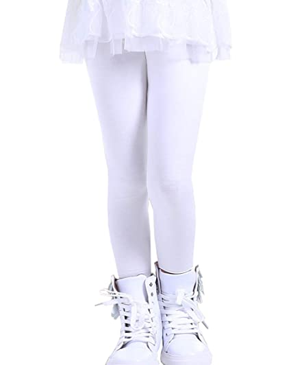 2862c54acd38d Amazon.com: NABER Kids Girls' Soft Stretch Tights Fitted Skniny Leggings  Pants Age 3-11 Years: Clothing
