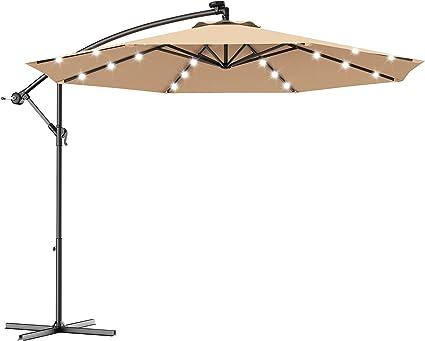 Prime Outdoor Garden Parasol Sun Shade Cantilever Hanging Umbrella Patio Garden