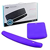 Nex Mouse Mat with Wrist Rest Pad Mouse Pad Keyboard Mouse Memory Foam Stress Disorder Pads Kit Wrist Rest Pad for Surfing and Gaming (Purple)