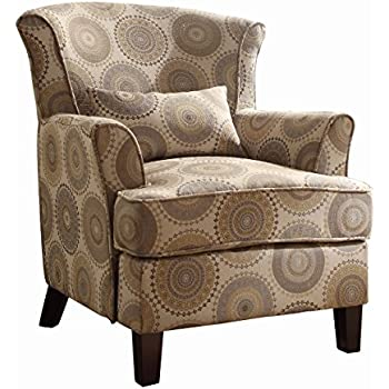 Amazon Com Homelegance Nicolo Wing Back Accent Chair With