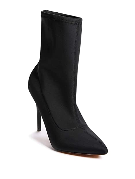 35fff396dc5 Marciano Guess Women's Night-Out Satin Bootie Jet Black: Amazon.ca ...