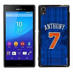 Anthony 7 Baloncesto - Metal de aluminio y de plástico duro Caja del teléfono - Negro - Sony Xperia M4 Aqua