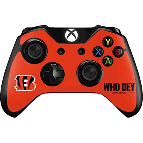 Skinit Cincinnati Bengals Team Motto Xbox One Controller Skin - Officially Licensed NFL Gaming Decal - Ultra Thin, Lightweight Vinyl Decal -