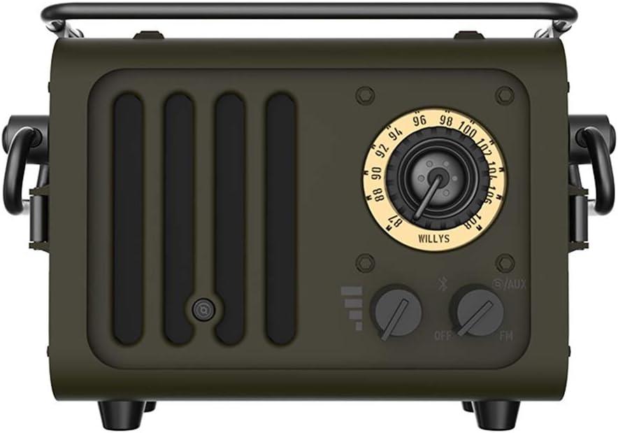 Hty Yx Presidente Salvaje de Bluetooth del Estilo del Jeep, Jugador Retro de la Radio del Altavoz bajo portátil al Aire Libre
