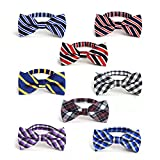 #2: JIMUKEE Baby Boys Toddler Kids Pre-tied Bow Tie With Adjustable Neck Strap Pack