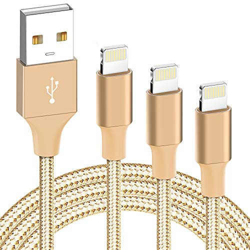 iPhone Charger, MFi Certified iPhone Cable- ilikable 3 Pack 3/6/10FT Nylon Braided Lightning Cable Compatible with iPhone 11 Pro Xs Max XR X 8 8Plus 7 7Plus 6 6s SE iPad Air Pro