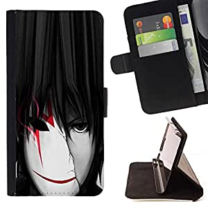 For Samsung Galaxy S3 III I9300 cool anime boy man mask white red Style PU Leather Case Wallet Flip Stand Flap Closure Cover