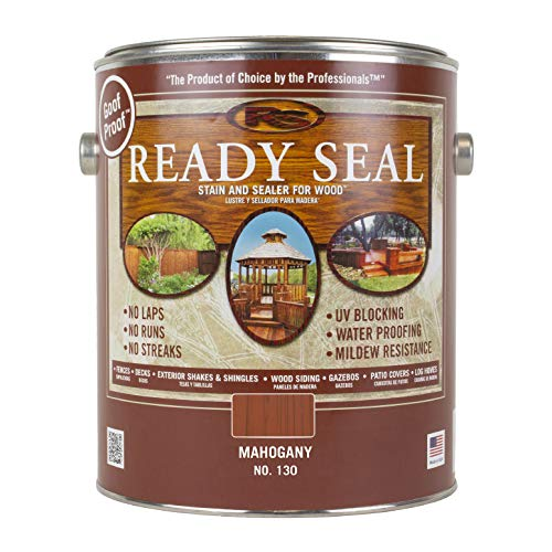 Ready Seal 130 1-Gallon Can Mahogany Exterior Wood Stain and Sealer (Colors Outdoor Stain Furniture Wood)