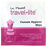 La Fresh Travel Feminine Hygiene Wipes - Portable and Discreet - 50 Individually Sealed Packets