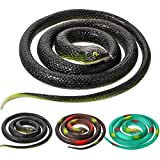 Realistic Rubber Snakes 2 Sizes 47 Inches and 29 Inches for Garden Props Prank Stuff Mamba Snake