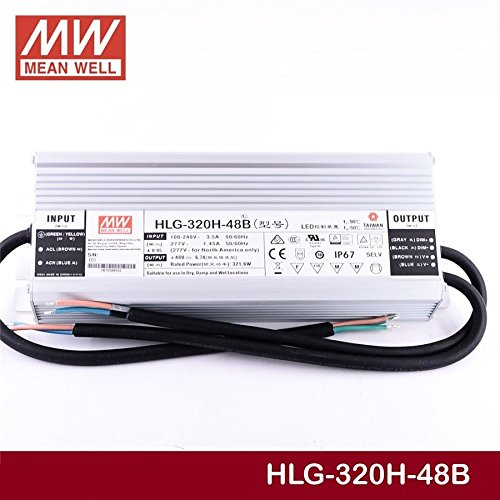 LED Driver 321.6W 48V 6.7A HLG-320H-48B Meanwell AC-DC SMPS HLG-320H Series MEAN WELL C.V+C.C Power Supply by MEAN WELL (Image #4)