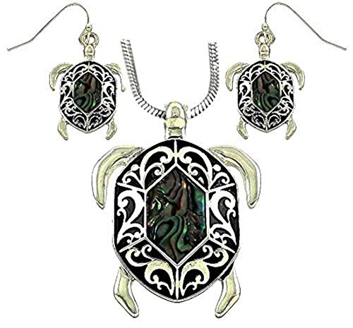 DianaL Boutique Abalone Necklace Earrings product image