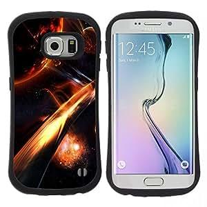 """Pulsar iFace Series Tpu silicona Carcasa Funda Case para Samsung Galaxy S6 EDGE / SM-G925(NOT FOR S6!!!) , Apocalipsis Fuego Galaxy Espacio Cosmos Planet"""""""