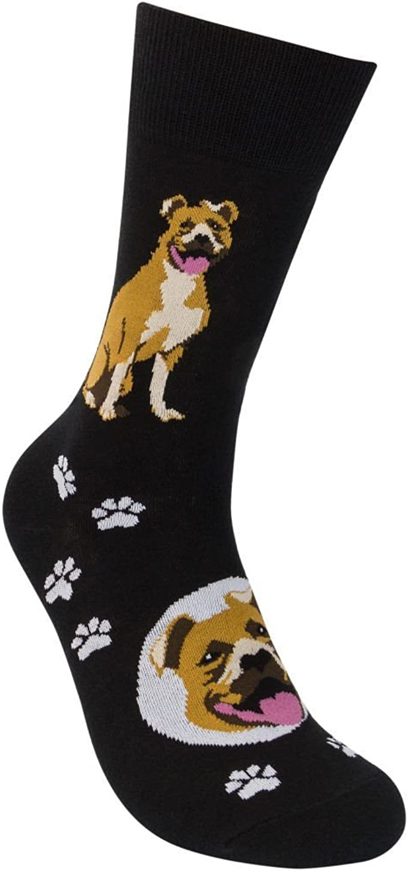 Pitbull tan Socks Unisex Dog Cotton//Poly One size fits most Pit Bull