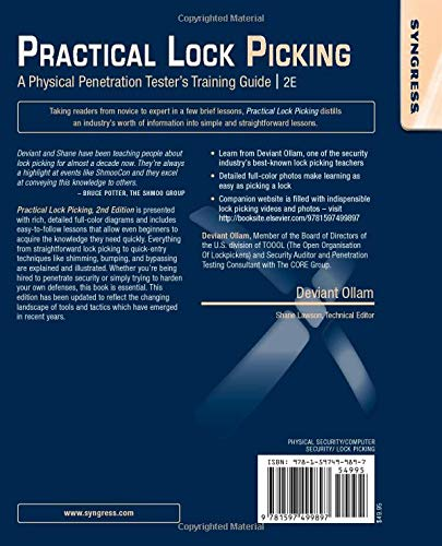 Practical Lock Picking: A Physical Penetration Testers Training Guide (2nd Edition)