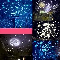 Proyector Estrella Lámpara Cielo Estrellas Luna Universo Rotación ...