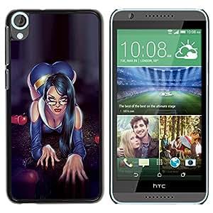 YOYOYO Smartphone Protección Defender Duro Negro Funda Imagen Diseño Carcasa Tapa Case Skin Cover Para HTC Desire 820 - secretaria sexy lencería hogtie bibliotecario