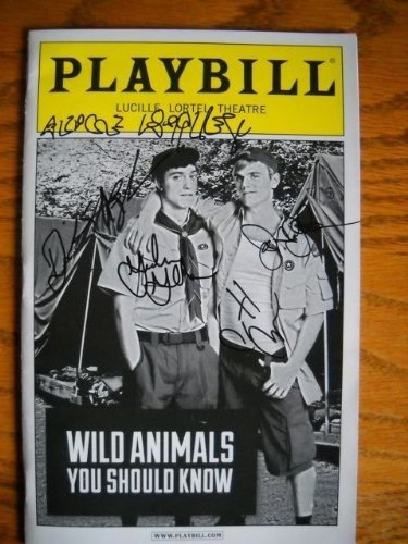 Cast Signed Brand New Playbill from Wild Animals You Should Know at the Lucille Lortel Theater starring Alice Ripley Patrick Breen Jay Armstrong Johnson Gideon Glick Written by Thomas Higgins