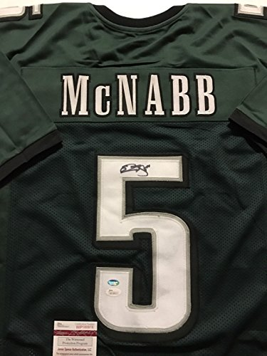 Autographed/Signed Donovan McNabb Philadelphia Green Football Jersey JSA COA