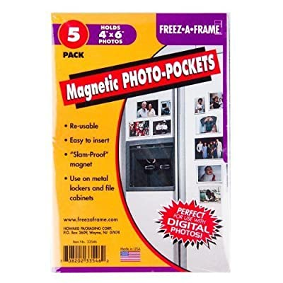 Set Of 5 Freez-A-Frame Magnetic 4 x 6 Photo Frame. Made in USA New