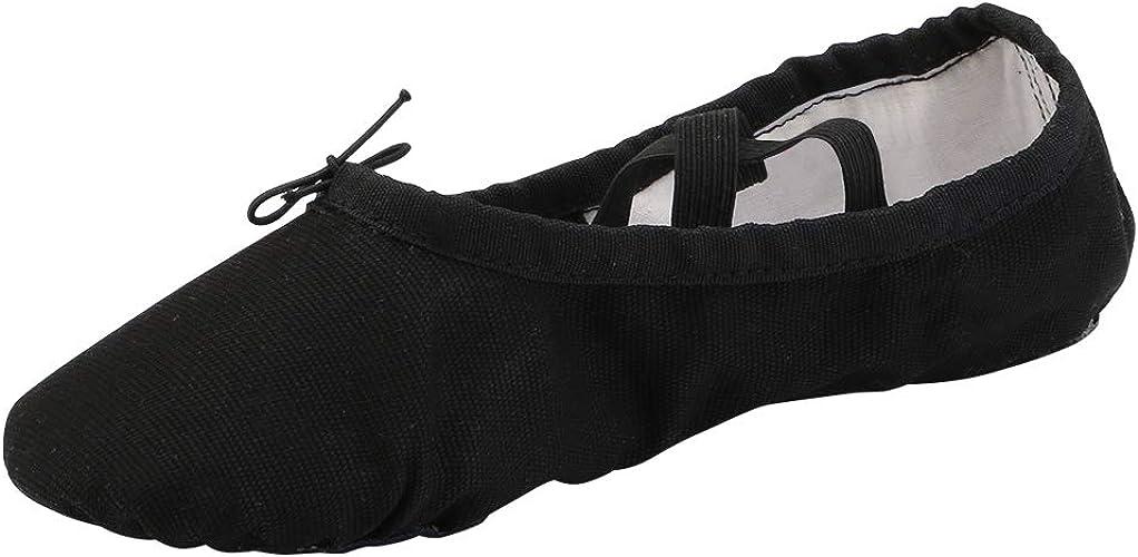 Amazon.com: Zapatillas de ballet de lona para mujer para ...