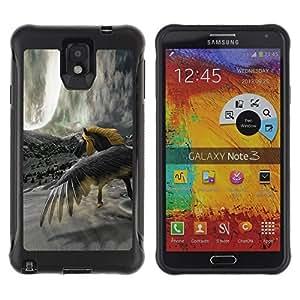 Suave TPU Caso Carcasa de Caucho Funda para Samsung Note 3 / Horse Wild Yellow Grey Unicorn Magical / STRONG