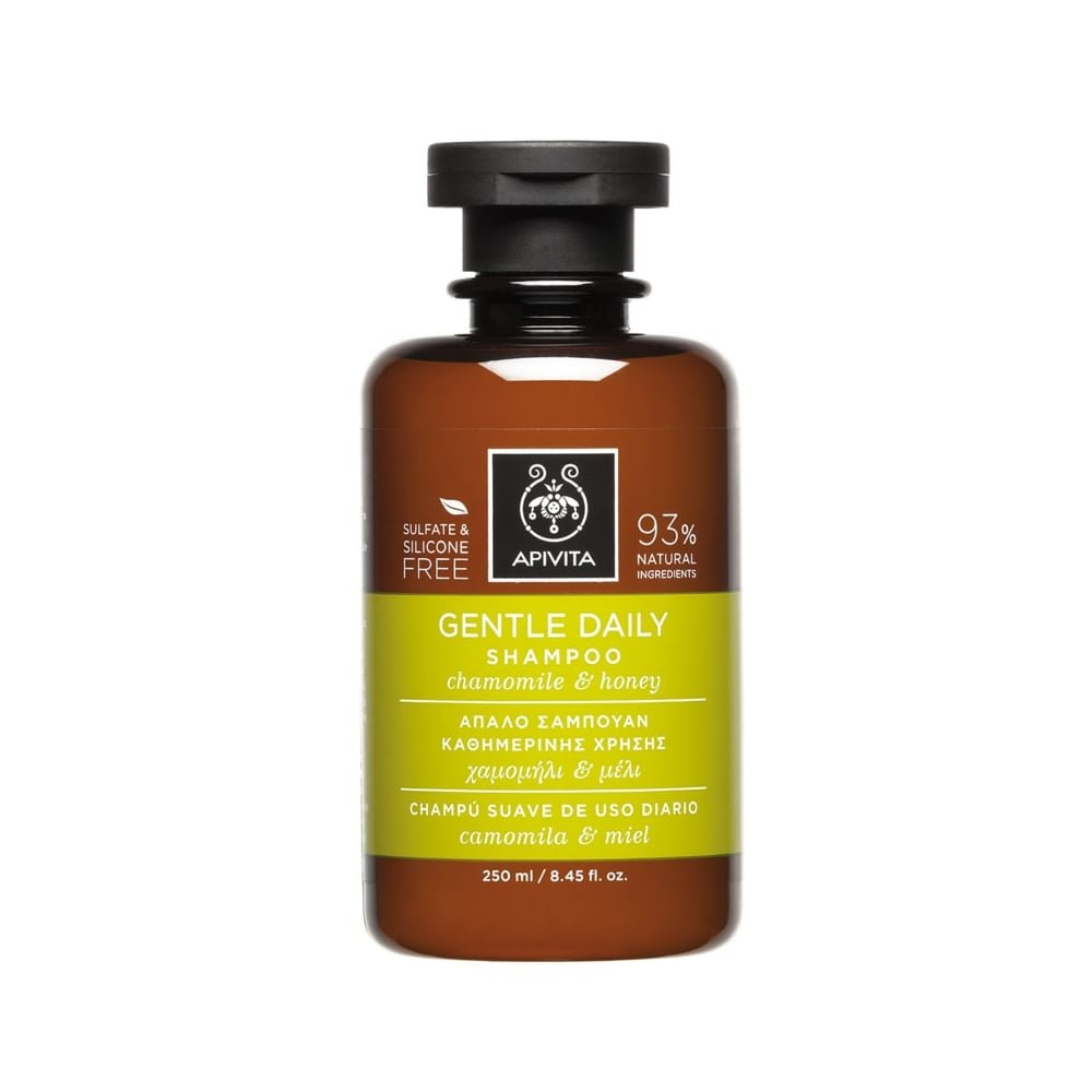 2 X Apivita Gentle Daily Shampoo with Chamomile and Honey (New Product, Released in 2017) - 2 Bottles X 250ml/8.5oz each one