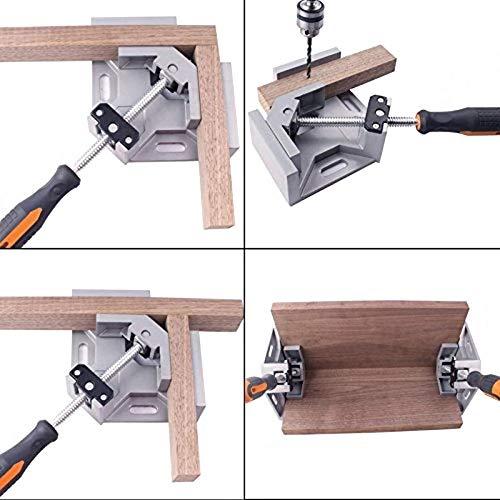 Clip de Fixation /à Droite Sepikey Pinces /à Angle Pince /à Angle en Aluminium Manche Simple 90 degr/és /à Droite Pince /à Angle pour Cadre de Travail du Bois