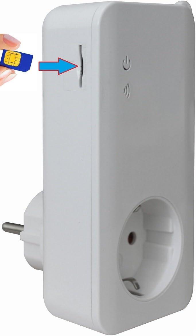 tualarmasincuotas.es - Enchufe Inteligente T4-GSM (para Tarjeta SIM), Sensor de tª y manejable con SMS/App/Llamada