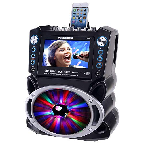 Karaoke GF842 DVD/CDG/MP3G Karaoke System with 7'' TFT Color Screen, Record, Bluetooth and LED Sync Lights by Karaoke USA (Image #3)
