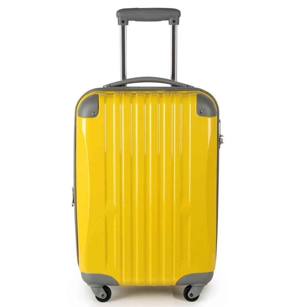 旅行用品荷物スーツケーストロリーケース 優れた回転ABS + PC材料トラベルロッドボックスシャーシ20 24インチプルロッドボックス。 (色 : 黄) B07SVDJN1V 黄