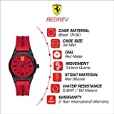 Ferrari Boy's RedRev Quartz TR90 and Silicone Strap