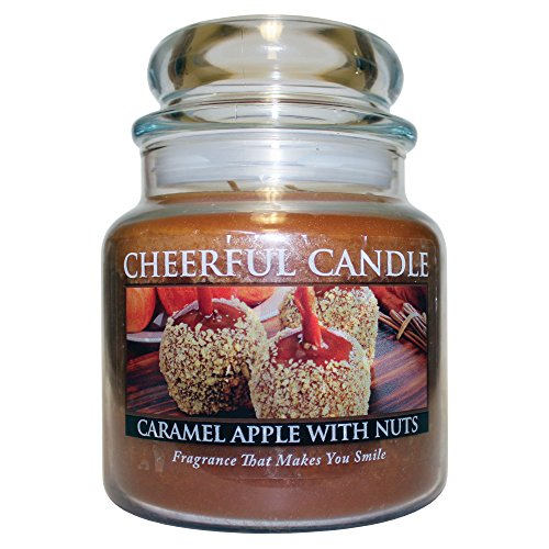 Caramel Apple 16 Oz Jar - A Cheerful Giver Caramel Apple with Nuts Jar Candle, 16-Ounce