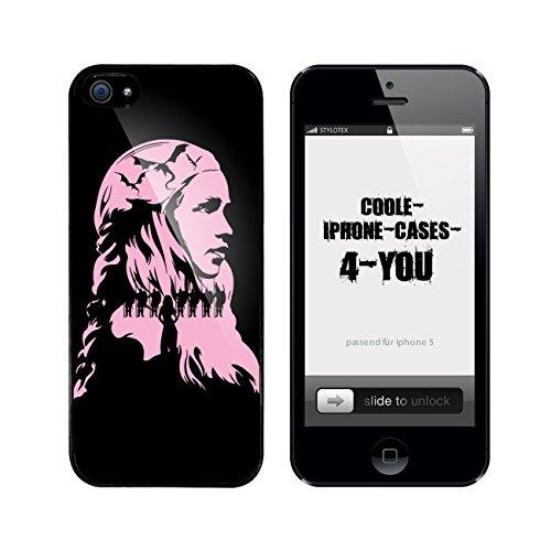 Iphone 5 / 5S Schutzhülle Khaleesi v1 - schwarzer Rahmen