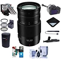 Panasonic Lumix G Vario 100-300mm f/4.0-5.6 II Power O.I.S. Zoom Lens for Micro Four Thirds - Bundle With 67mm Filter Kit, FocusShifter DSLR Follow Focus, LensAlign MkII Focus Calibration System, More